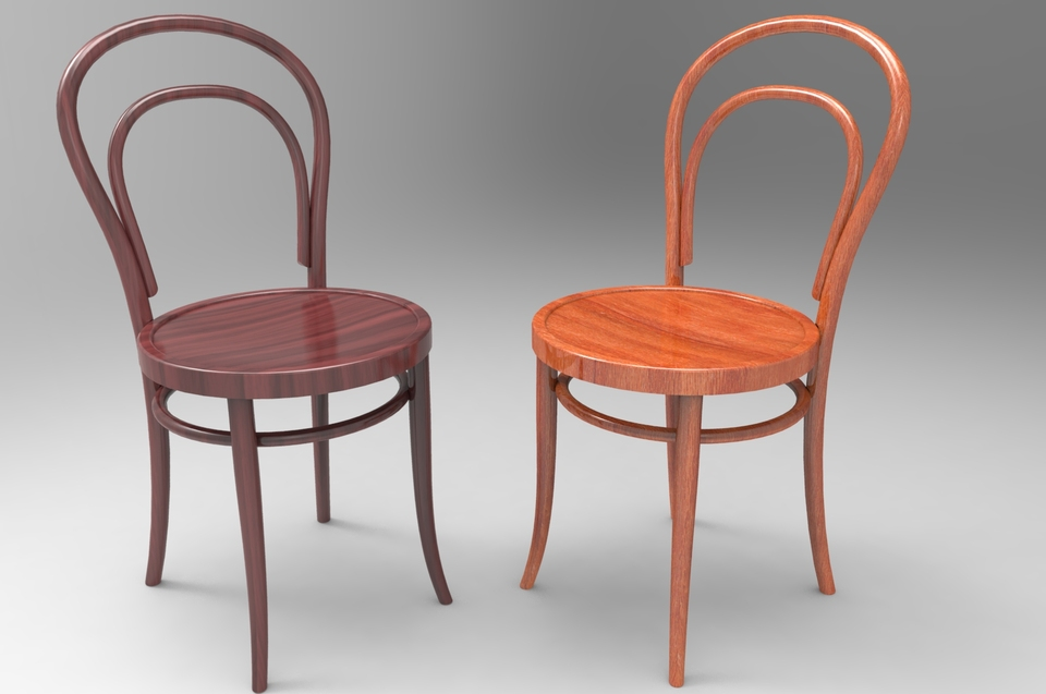 Thonet Nr 14 Bentwood Chair 3d Cad Model Library Grabcad