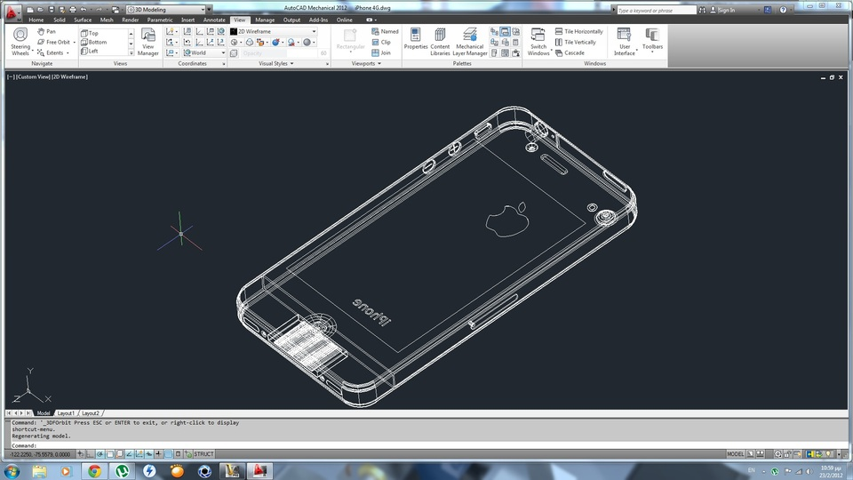 Iphone 4 autocad 3d cad model grabcad Cad models