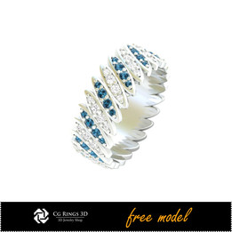 3D CAD Eternity Band Ring - Free 3D Jewelry