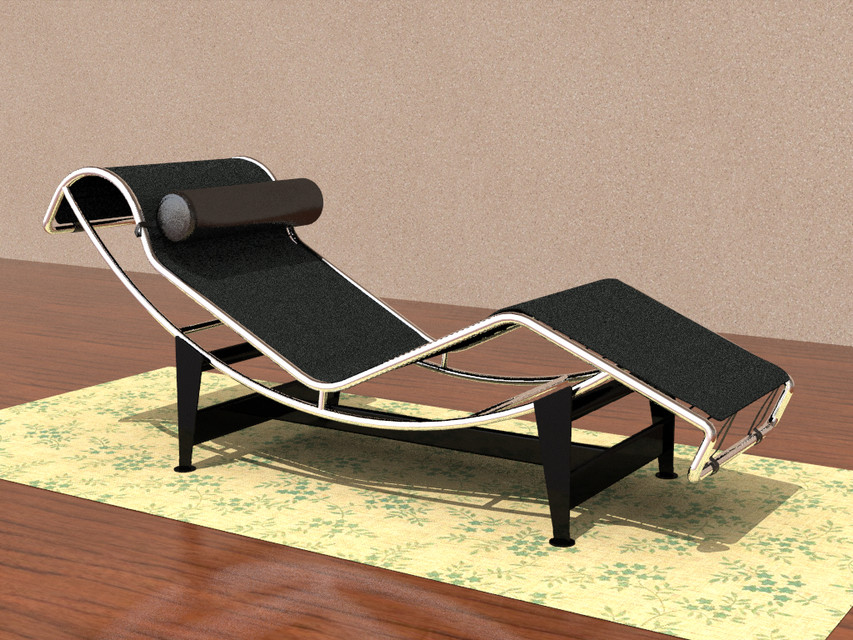 chaise longue le corbusier | 3D CAD Model Liry | GrabCAD on chaise sofa sleeper, chaise furniture, chaise recliner chair,