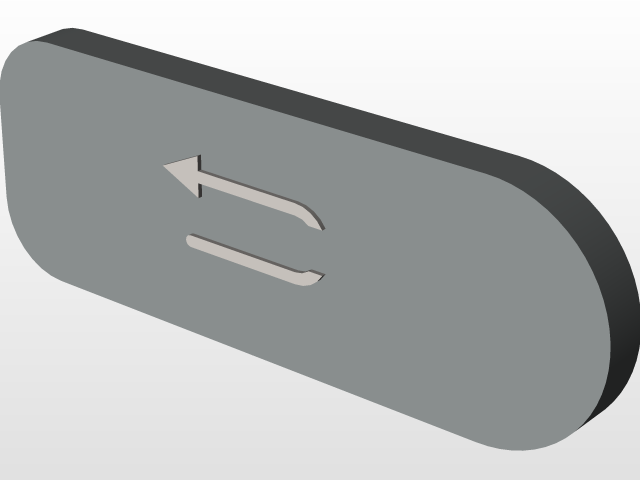 Samsung Galaxy S7 Active Back and Menu Buttons   3D CAD
