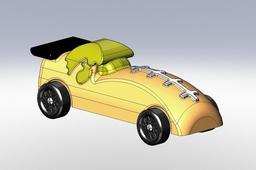Iowa Hawkeye pinewood derby car