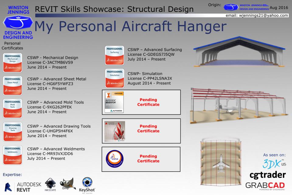 Revit Skills Showcase: My Personal Aircraft Hanger   3D CAD