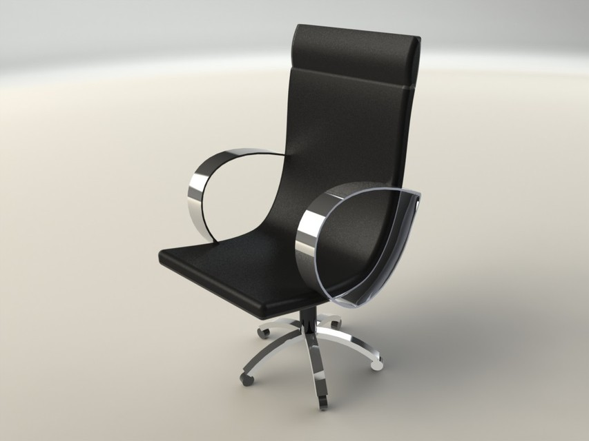 Office chair solidworks stl step iges rhino autocad for Chair design 3ds max