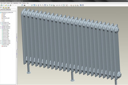 Radiator with 24 ribs