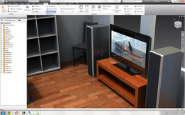 """Samsung 42"""" with TV desk and Jamo speakers"""