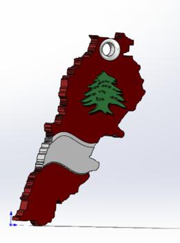 LEBANON KEY-CHAIN