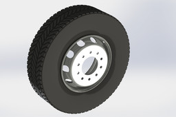 TRAILER TYRE AND RIM