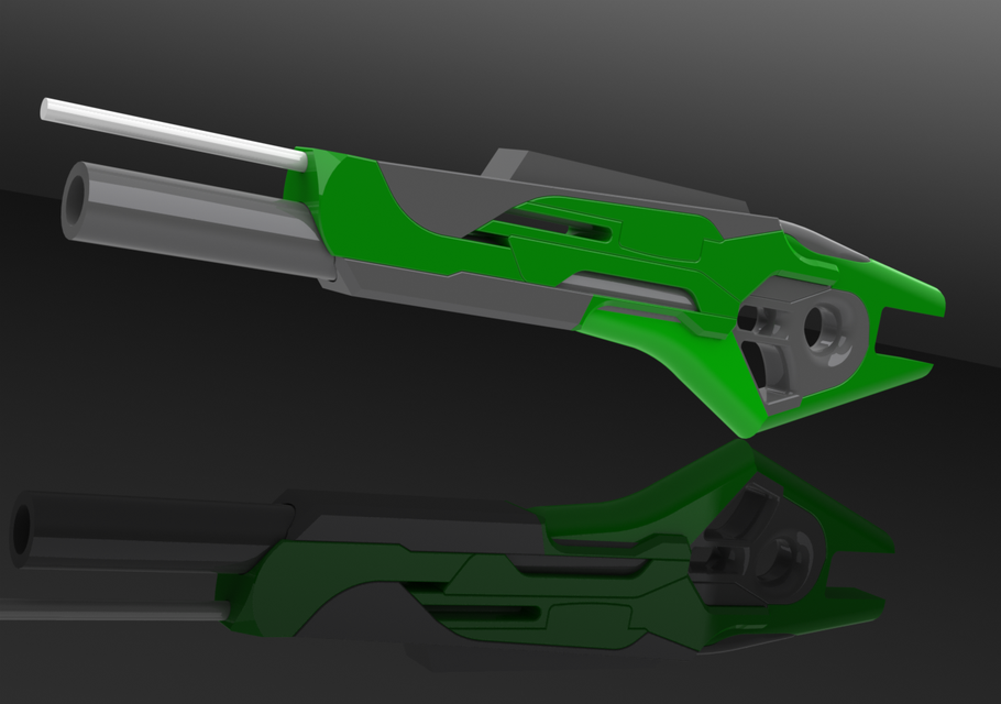 Crosman 1377 PCP SCI FI GUN   3D CAD Model Library   GrabCAD