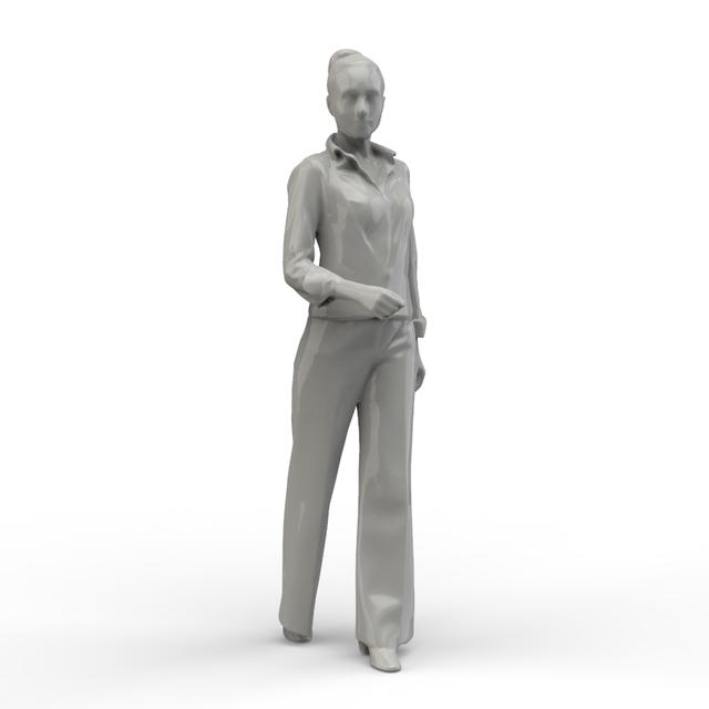 Walking Woman | 3D CAD Model Library | GrabCAD