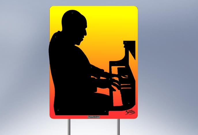 Silhouette - Piano Player - STL, SOLIDWORKS - 3D CAD model ...