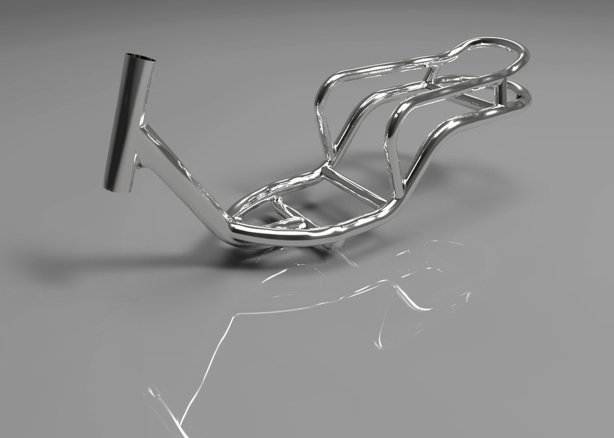 Scooter Chassis/Frame | 3D CAD Model Library | GrabCAD