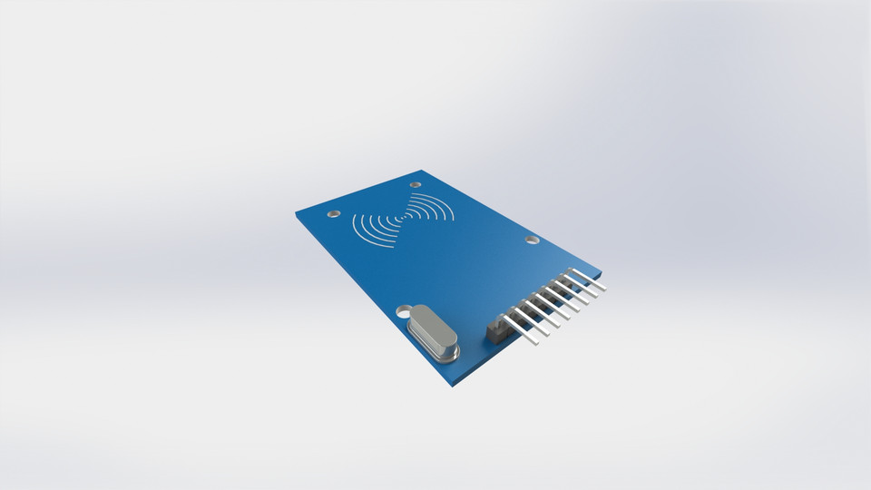 Rfid RC522 Receiver Module | 3D CAD Model Library | GrabCAD