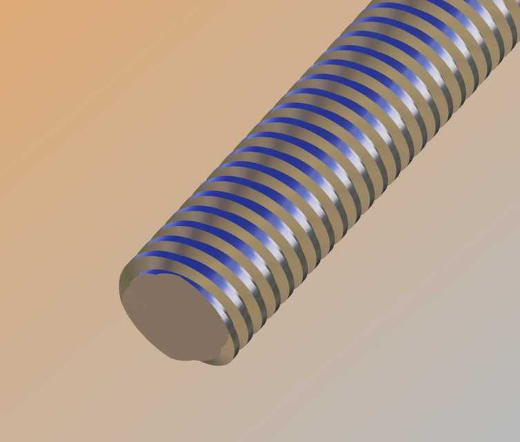 Acme Double Lead Screw | 3D CAD Model Library | GrabCAD