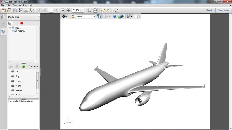 Airbus A320 Comercial Aircraft | 3D CAD Model Library | GrabCAD