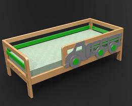 Кровать детская с машиной