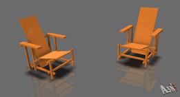 Rietveldstoel 2x