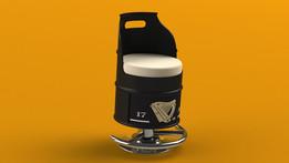 55 Gallon Oil Drum 'BAR STOOL'