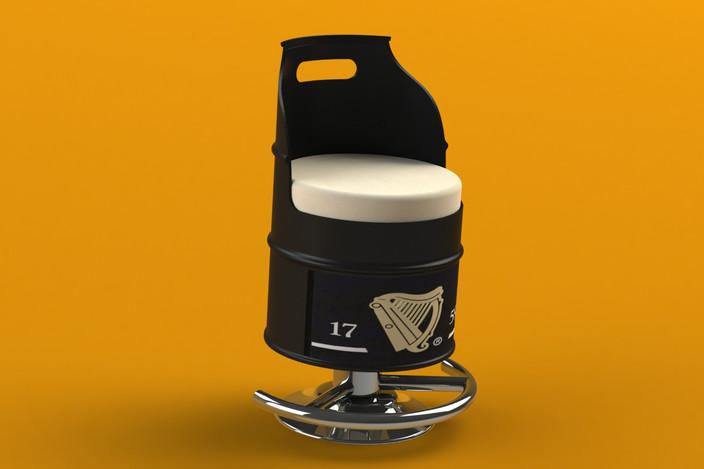 55 Gallon Oil Drum BAR STOOL SOLIDWORKS 3D CAD model  : medium from grabcad.com size 704 x 469 jpeg 34kB