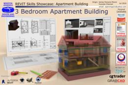 Revit Skills Showcase: 3 Bedroom Apartment Building