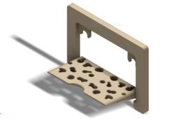 Portable, Foldable Shower Shelf