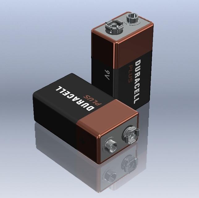 9v duracell battery 3d cad model library grabcad. Black Bedroom Furniture Sets. Home Design Ideas