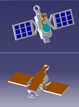 3D printed satellite keychain