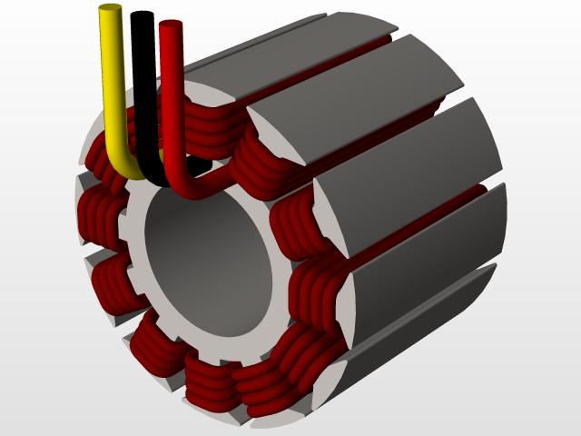 Scorpion brushless motor HK-7050 340kV   3D CAD Model