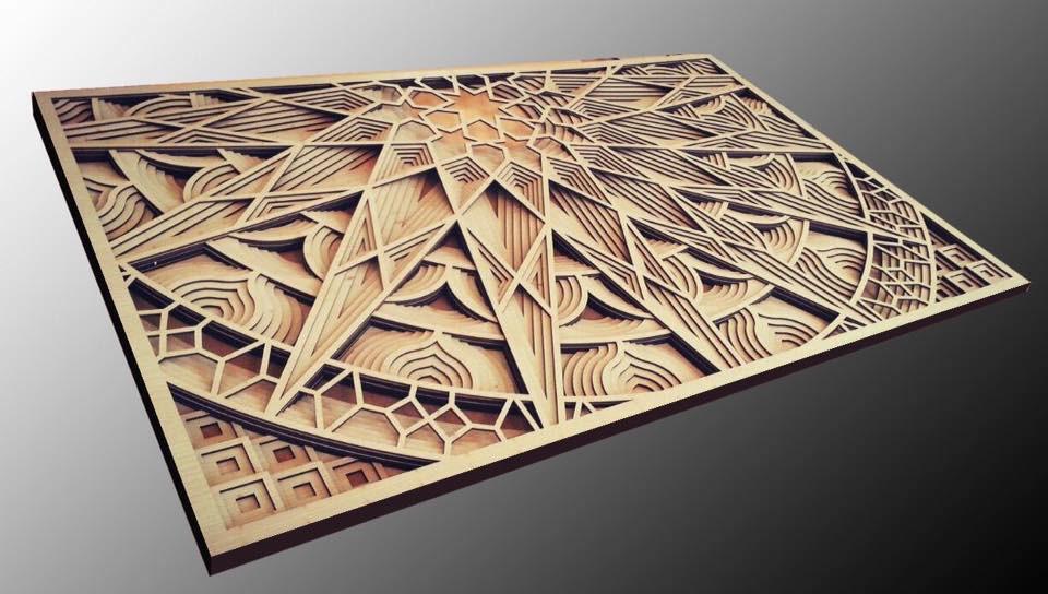 multi layered laser cut artwork 3d cad model library grabcad rh grabcad com laser cut art ideas laser cut art files