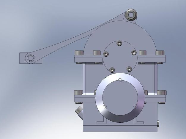 Speed reducer with crank-connecting rod mechanism