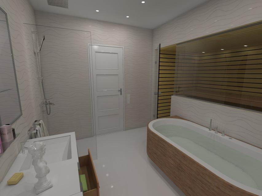 Cad Bathroom Design sauna and bathroom design  autocad  3d cad model  grabcad