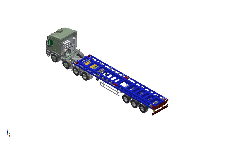 SEMI-TRAILER & Container 20' & TRUCK | 3D CAD Model Library