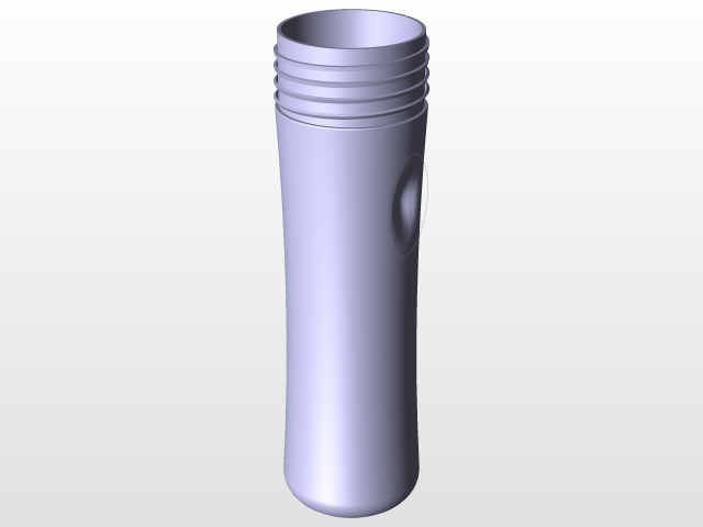 simple baby bottle   3D CAD Model Library   GrabCAD