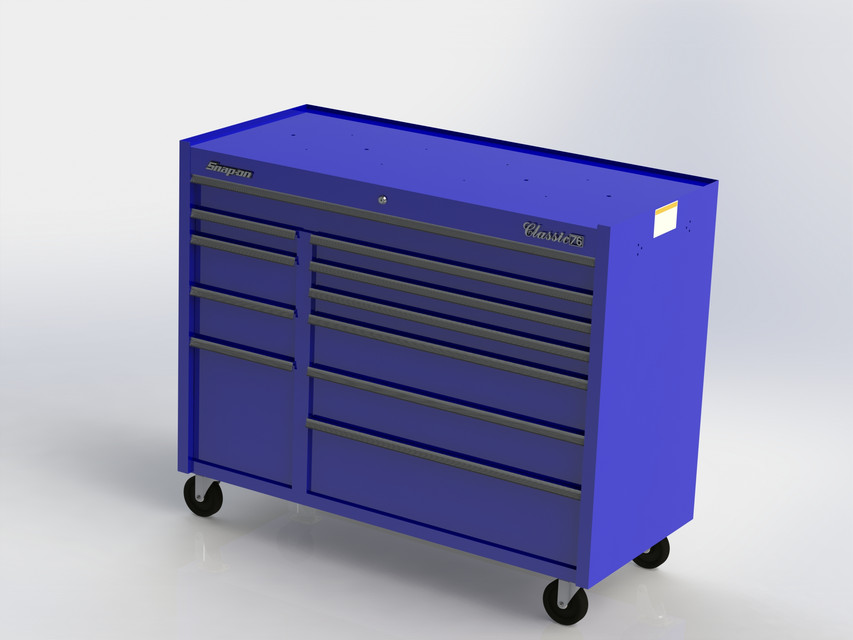snap-on classic 78 toolbox | 3d cad model library | grabcad