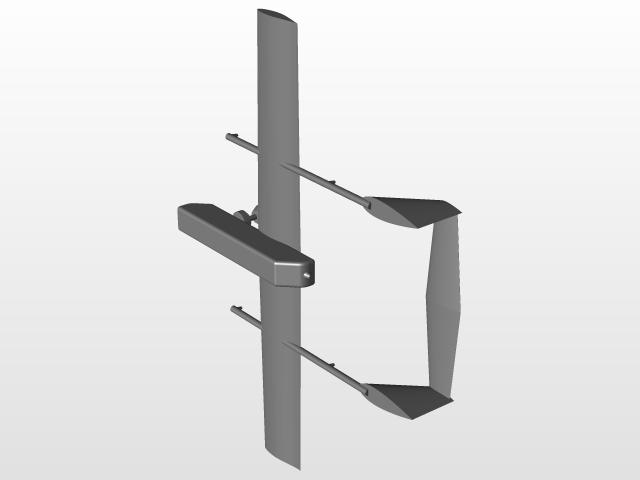 Twin-boom fixed-wing VTOL UAV | 3D CAD Model Library | GrabCAD