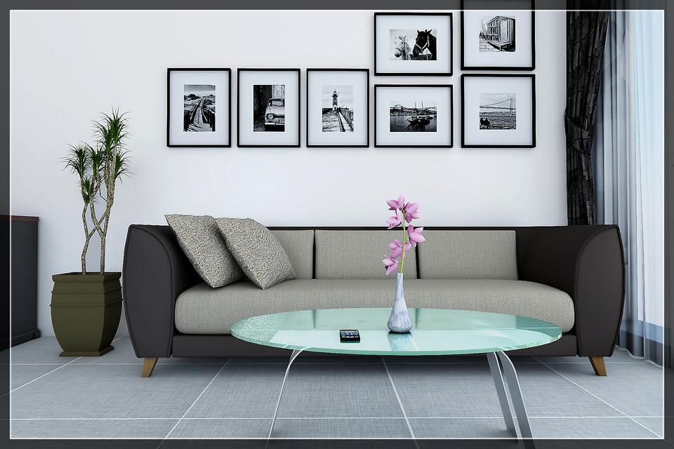 Living Room 3d Cad Model Library Grabcad