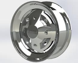 """Fiat 126 p (centoventisei) 12"""" Classic Chrome Rim (wheel)"""