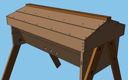 All Wood Top Bar Hive