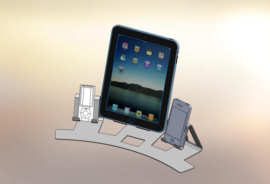 i-Triplex, i-pad, i-pod, i-nano, sheetmetal, docking station
