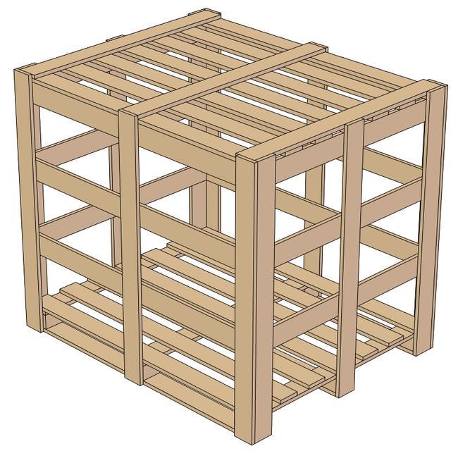 WOOD PALLET CASE | 3D CAD Model Library | GrabCAD