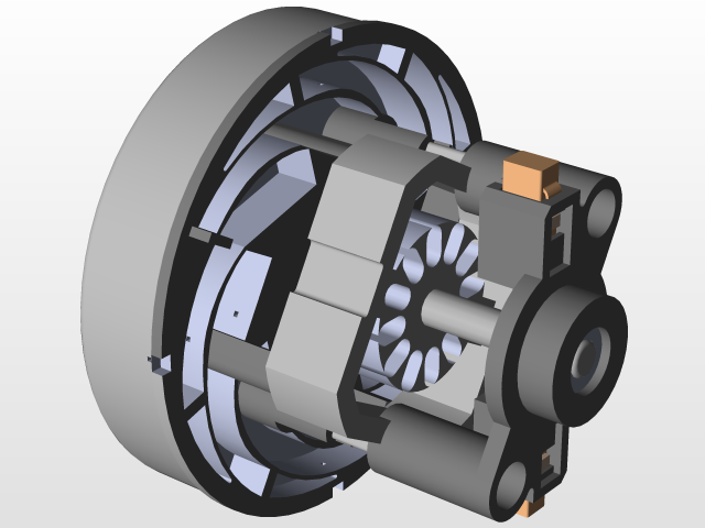 vacuum cleaner motor HXZX/J23-6 | 3D CAD Model Library | GrabCAD