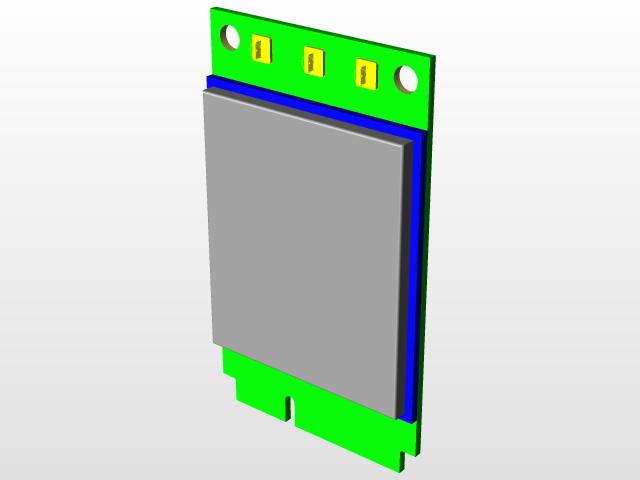 Quectel UC20 PCI-e module | 3D CAD Model Library | GrabCAD