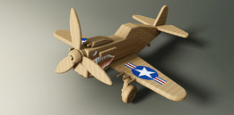 P-40 Flying Tiger Toy Airplane