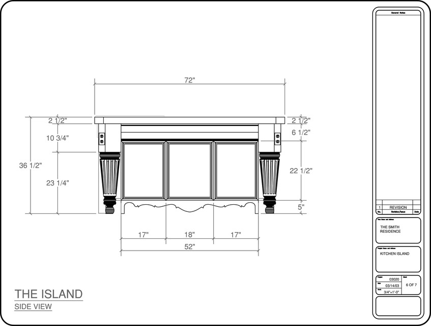 Kitchen Island Cabinet Autocad 3d Cad Model Grabcad