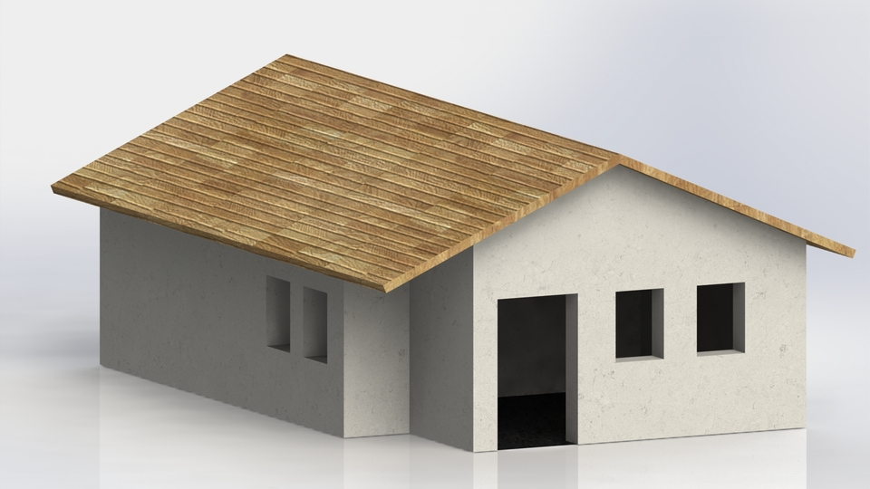 Simple House 3d Cad Model Library Grabcad