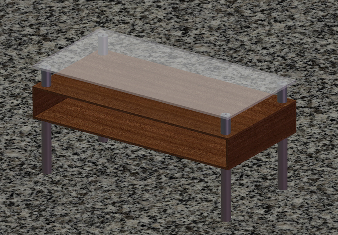 Coffee table solidworks other step iges stl 3d for Other uses for a coffee table