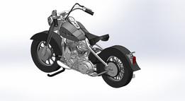 Harley Davidson, model, MetalcraftDesign, Sheetmetal puzzle, 3d puzzle, 3d metal puzzle
