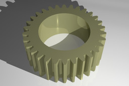 Gear Mn=2 Z=30 Pressure Angle = 20° Straight (Beta=0°)