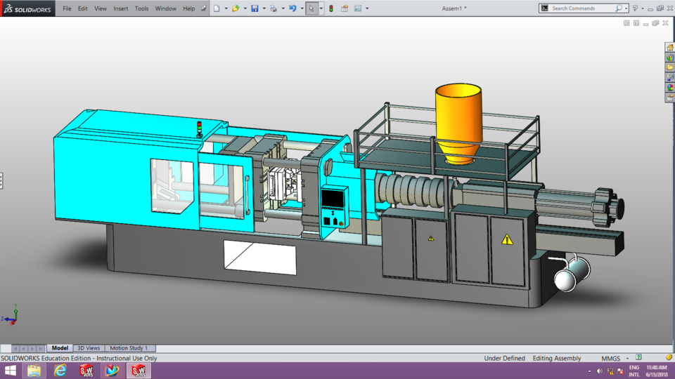 Injection Molding Machine | 3D CAD Model Library | GrabCAD