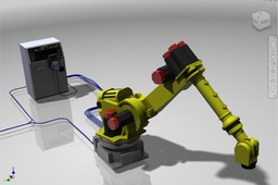 Fanuc Robot with Controller and Routed Systems